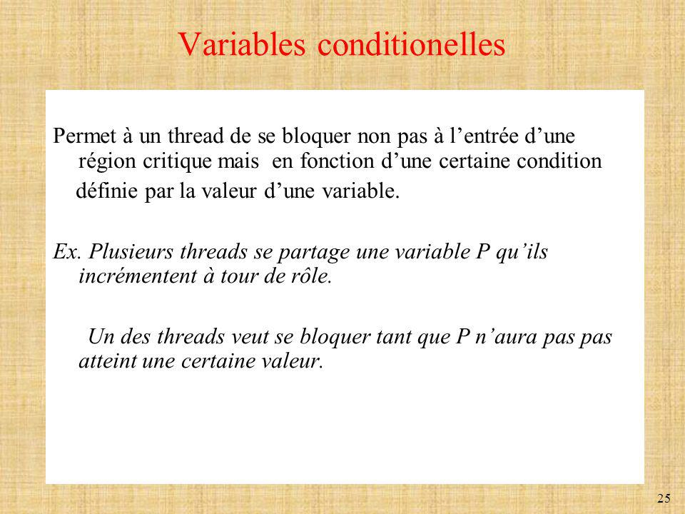 Variables conditionelles