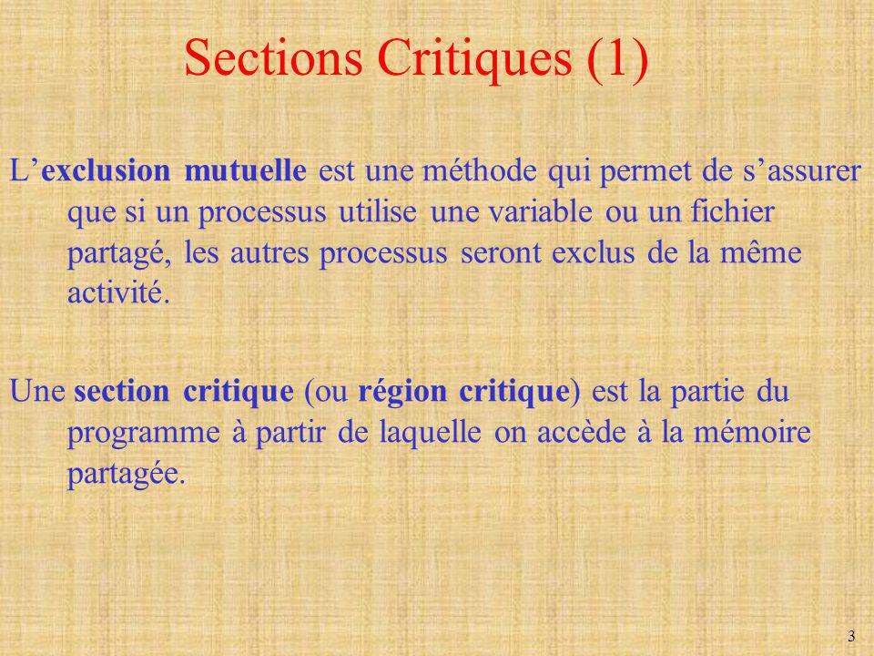 Sections Critiques (1)