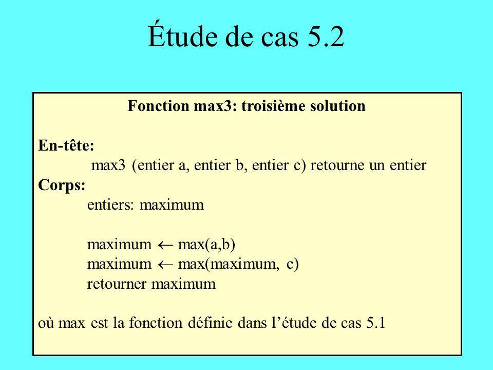 Fonction max3: troisième solution