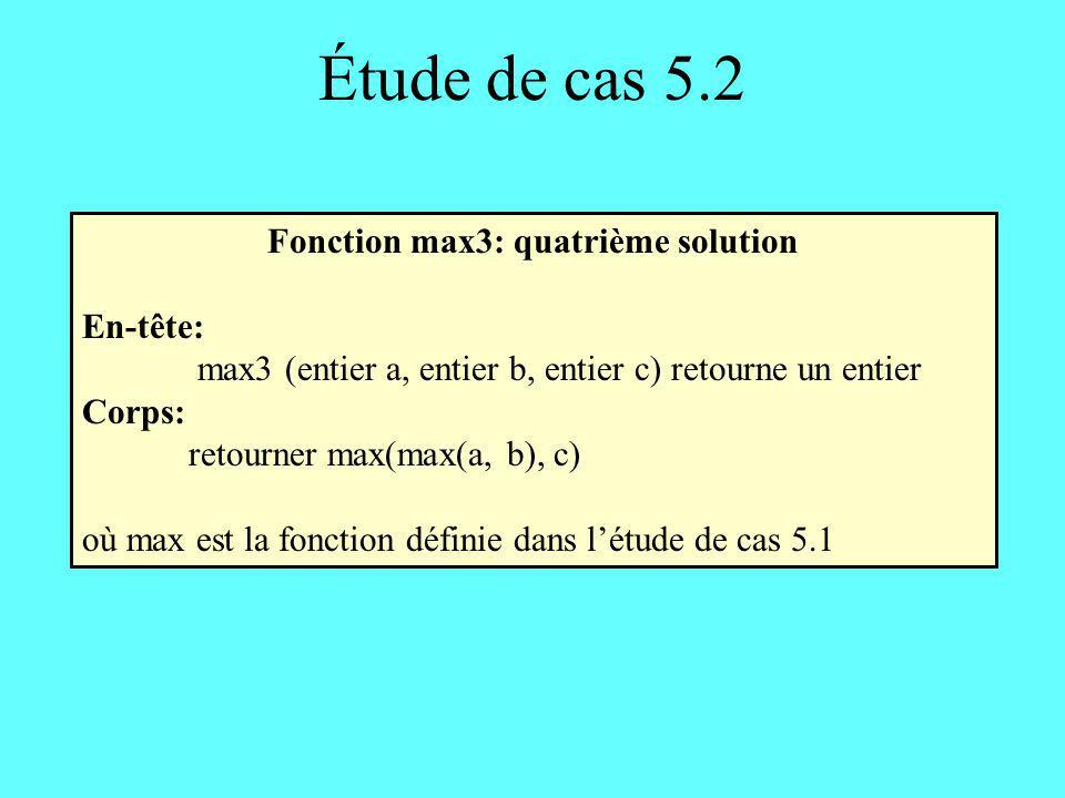 Fonction max3: quatrième solution