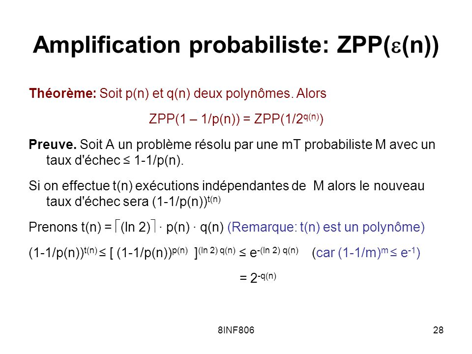 Amplification probabiliste: ZPP((n))