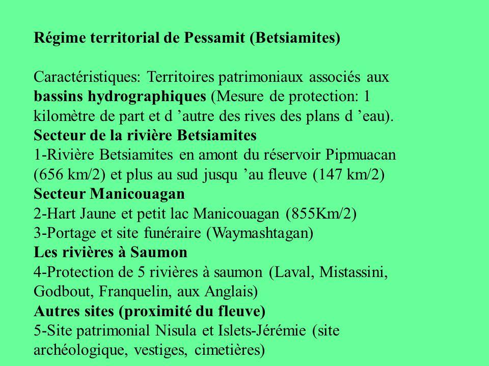Régime territorial de Pessamit (Betsiamites)