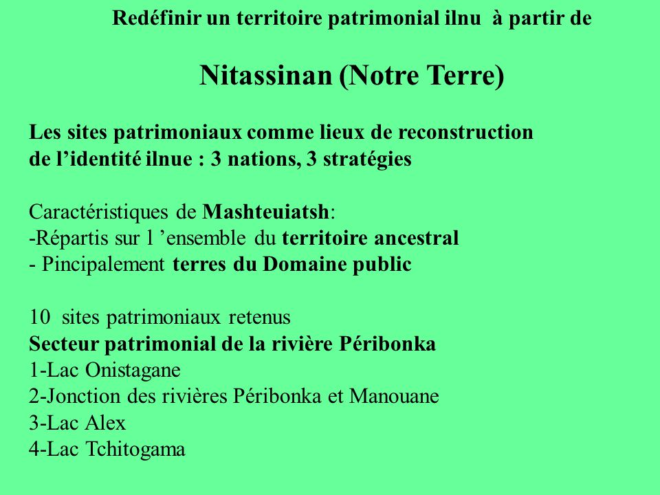Nitassinan (Notre Terre)