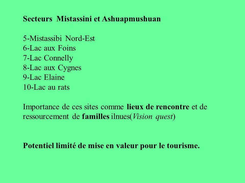 Secteurs Mistassini et Ashuapmushuan