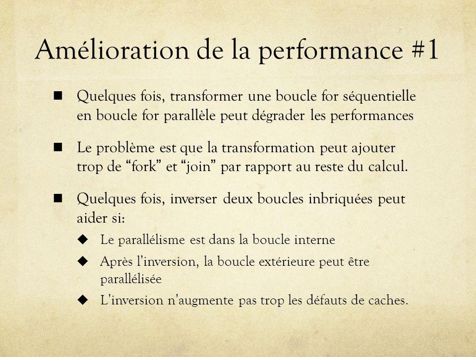 Amélioration de la performance #1