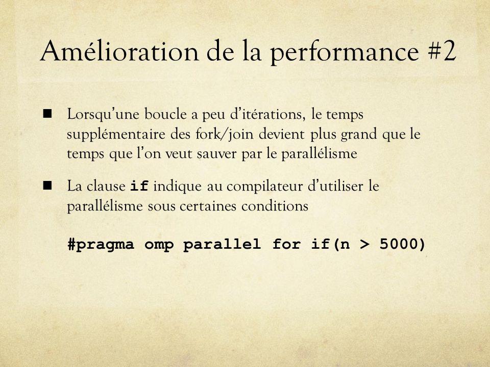 Amélioration de la performance #2