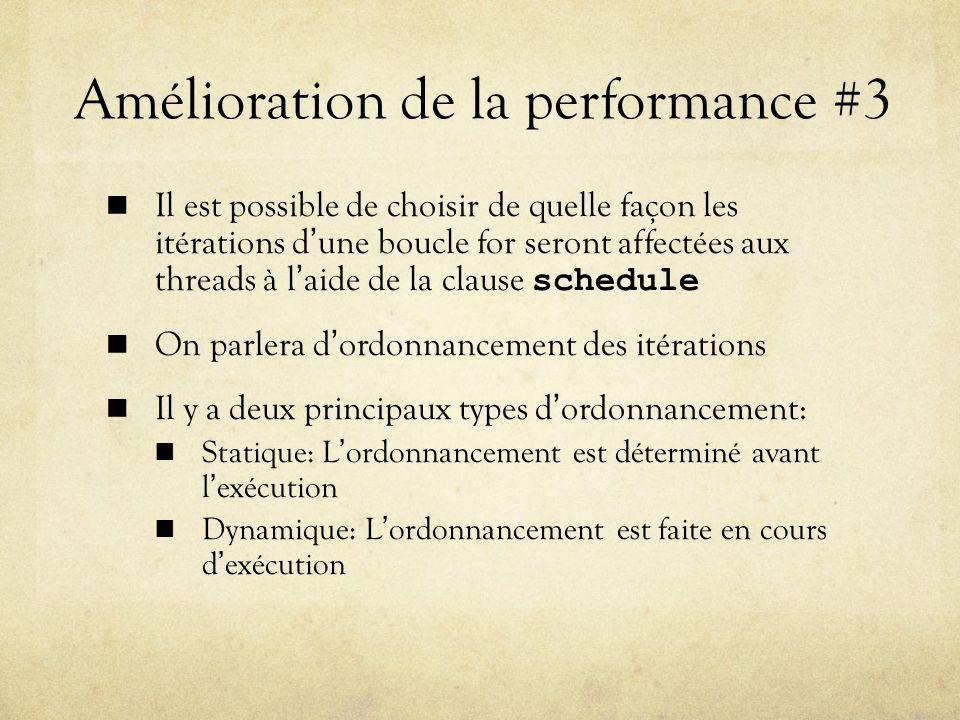 Amélioration de la performance #3