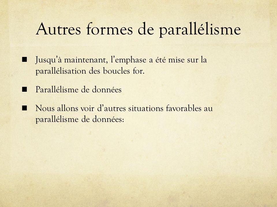 Autres formes de parallélisme