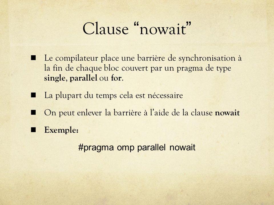#pragma omp parallel nowait