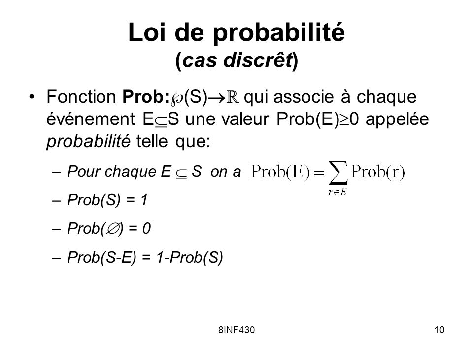 Loi de probabilité (cas discrêt)