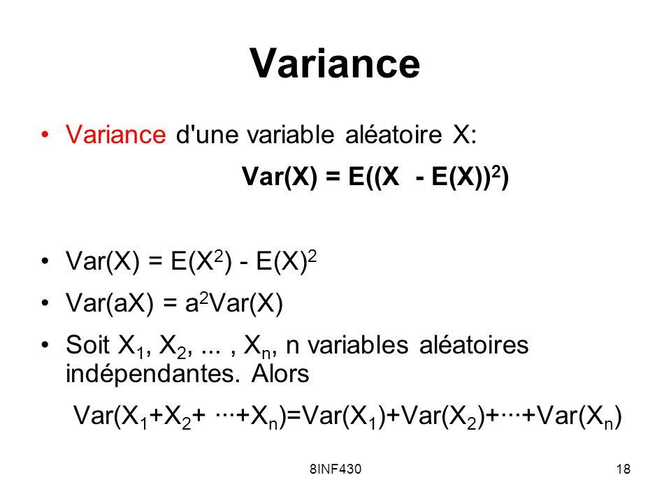 Var(X1+X2+ ···+Xn)=Var(X1)+Var(X2)+···+Var(Xn)