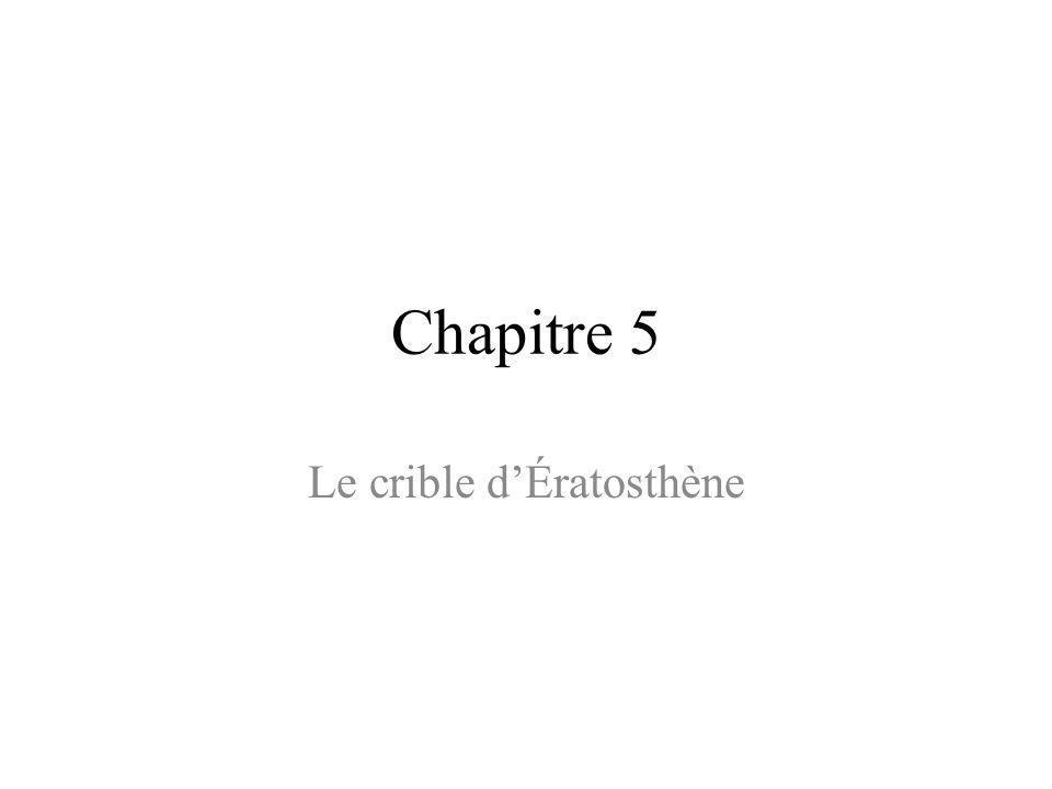 Le crible d'Ératosthène