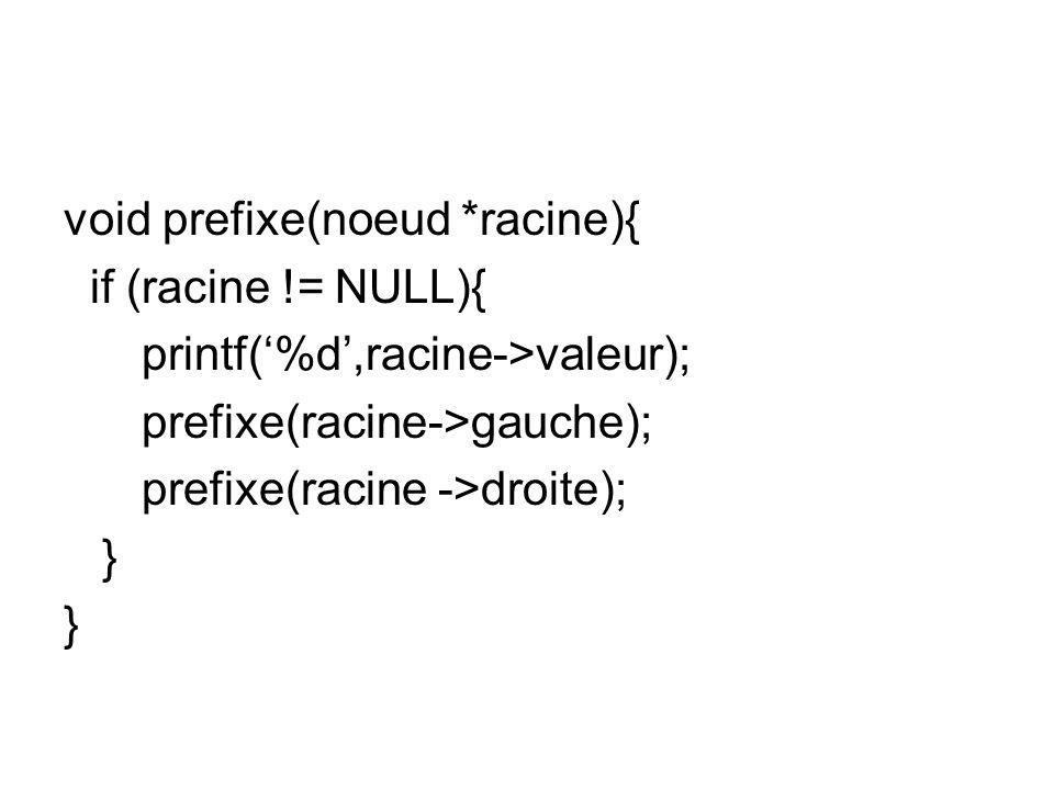 void prefixe(noeud *racine){