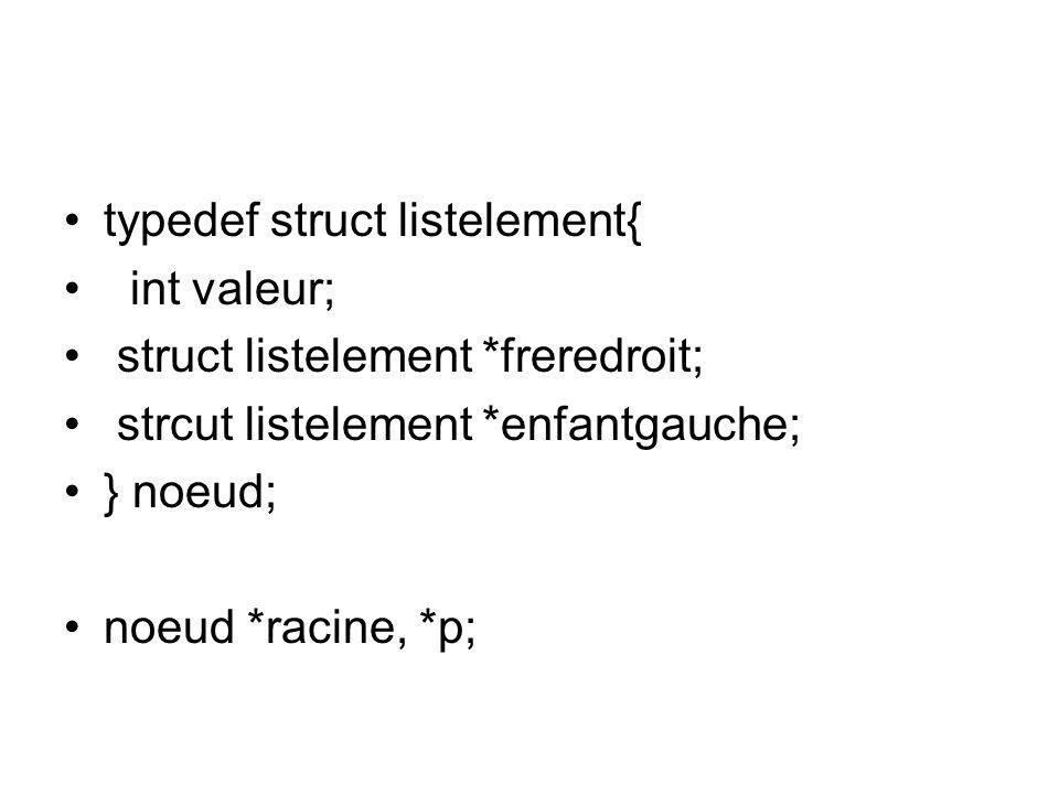 typedef struct listelement{