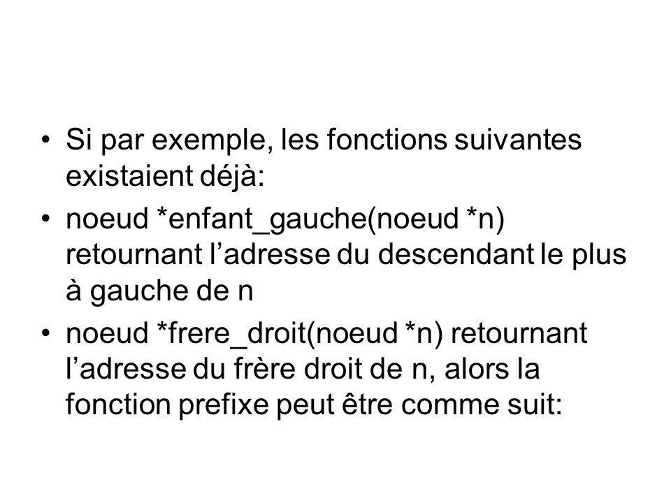 Si par exemple, les fonctions suivantes existaient déjà: