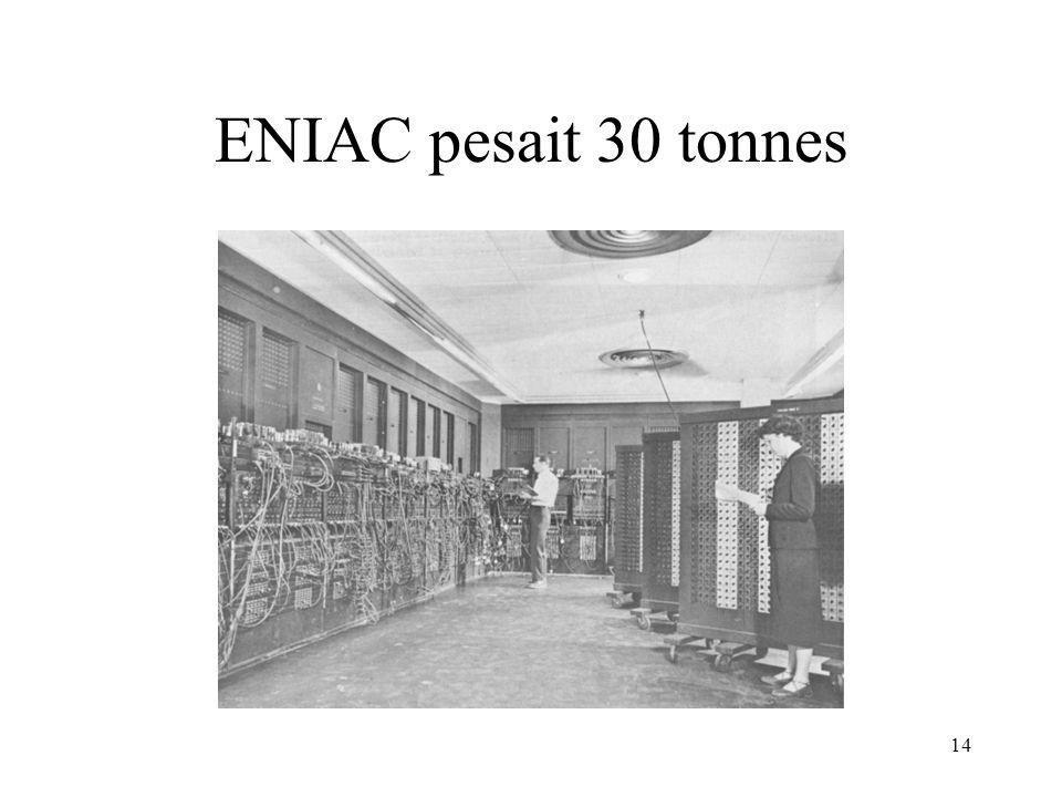 ENIAC pesait 30 tonnes