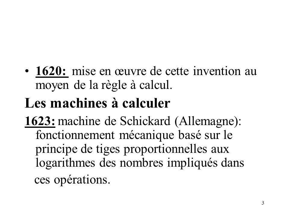 Les machines à calculer
