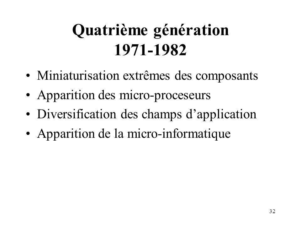 Quatrième génération 1971-1982