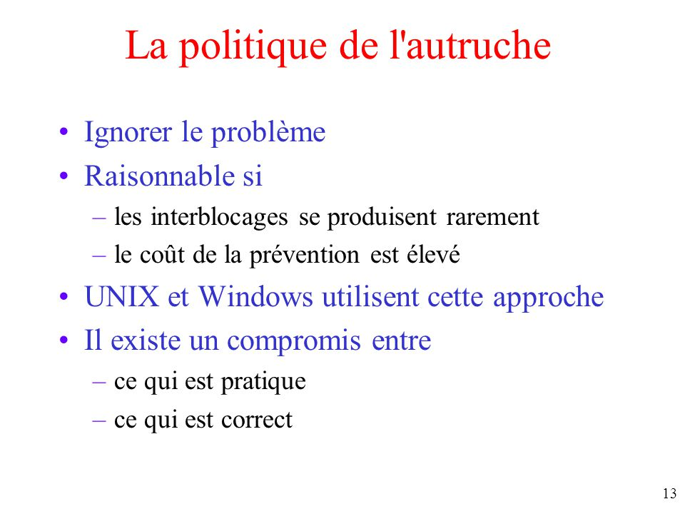 La politique de l autruche