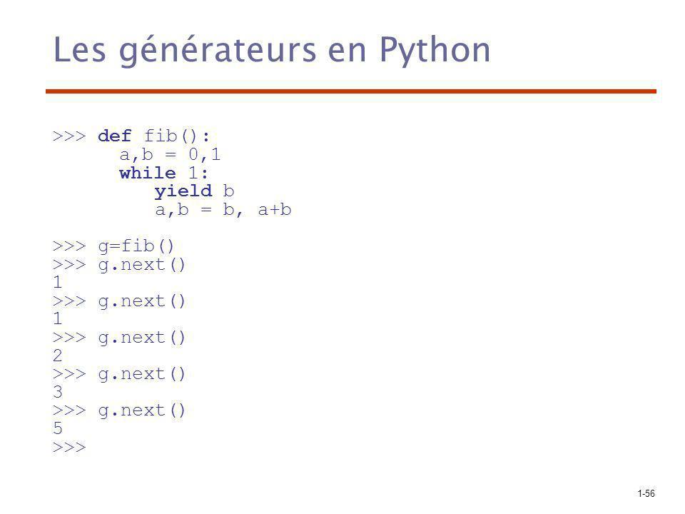 Les générateurs en Python