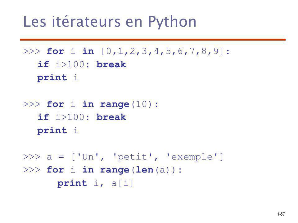 Les itérateurs en Python