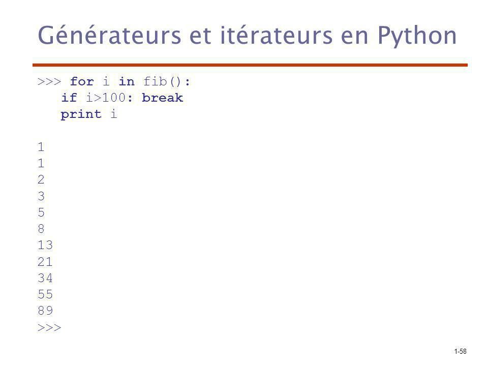 Générateurs et itérateurs en Python