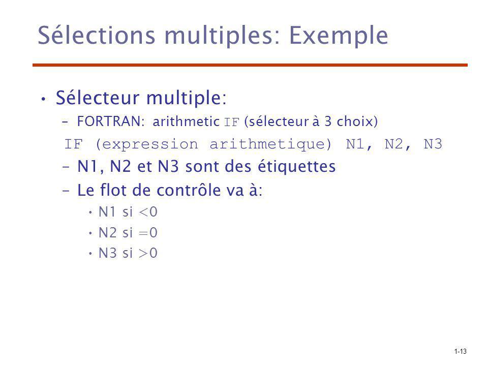 Sélections multiples: Exemple