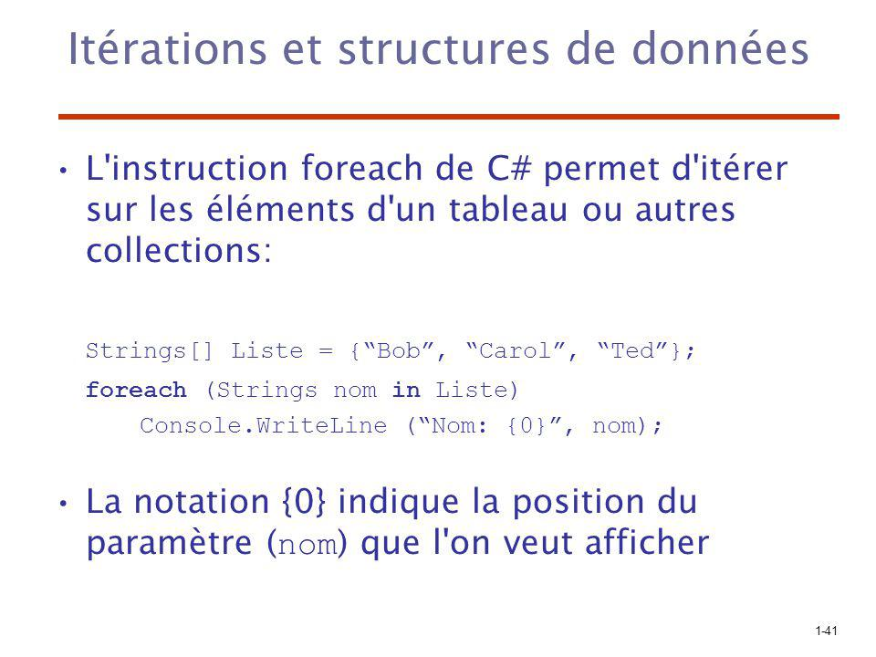 Itérations et structures de données