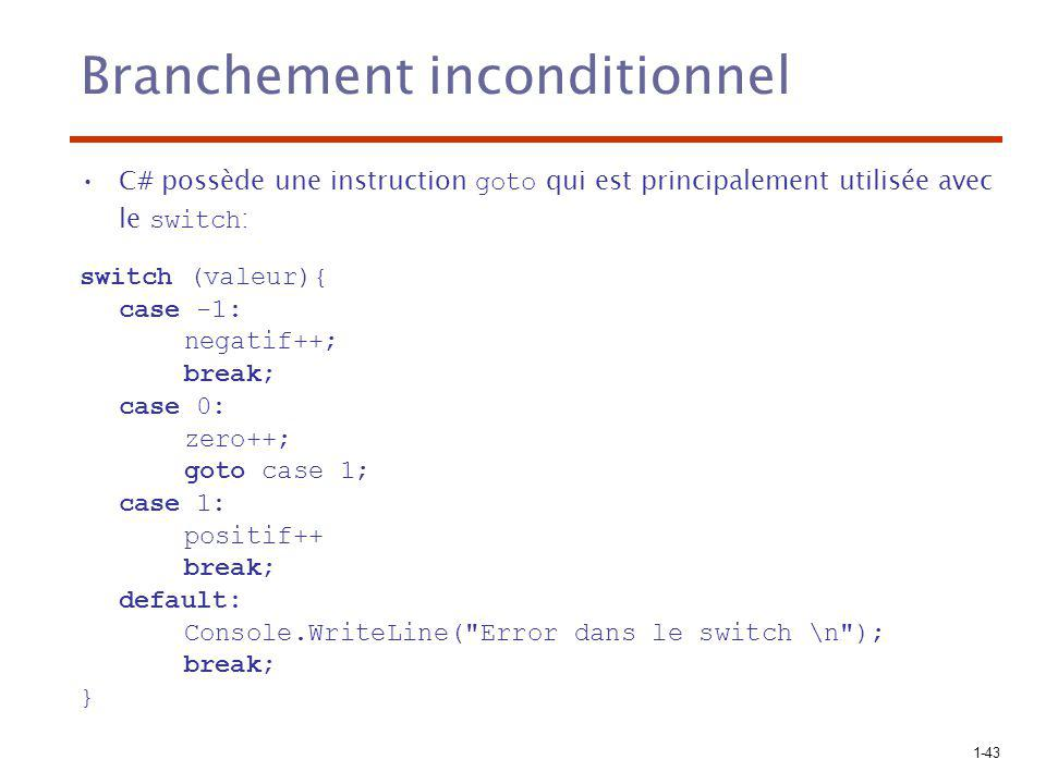 Branchement inconditionnel