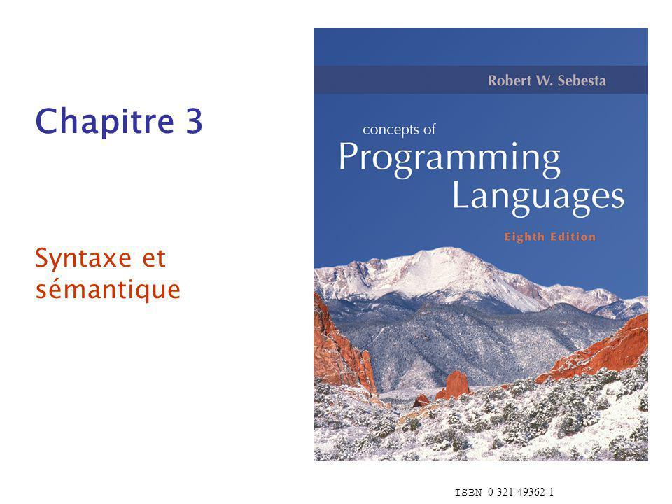 Chapitre 3 Syntaxe et sémantique