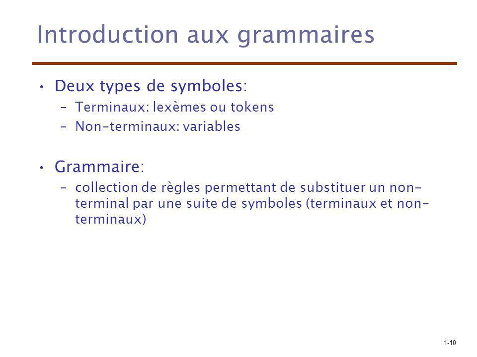 Introduction aux grammaires