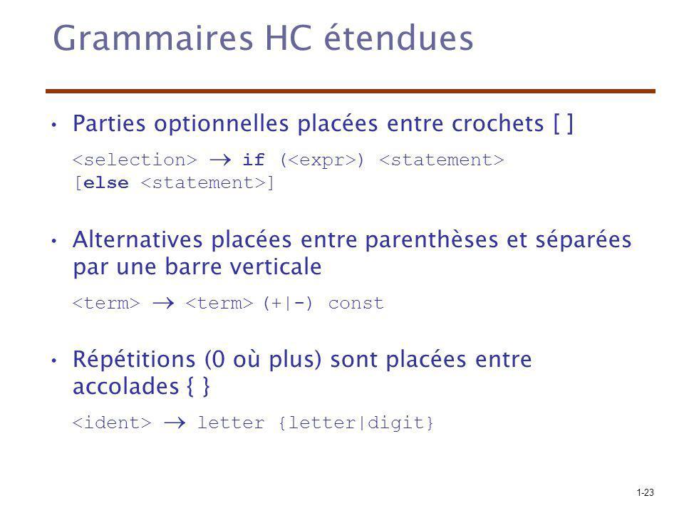 Grammaires HC étendues