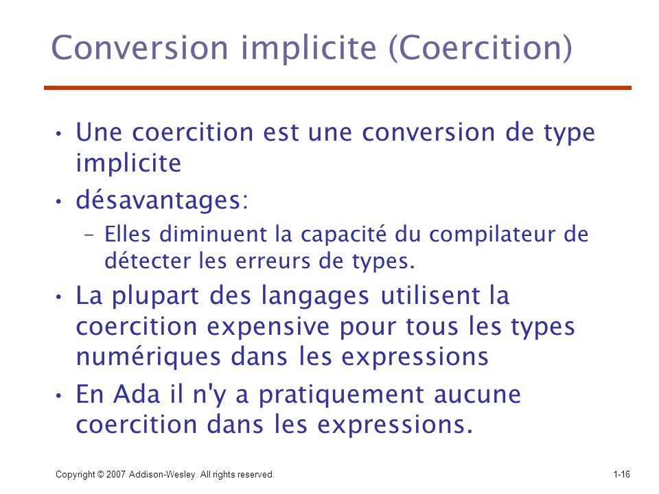 Conversion implicite (Coercition)