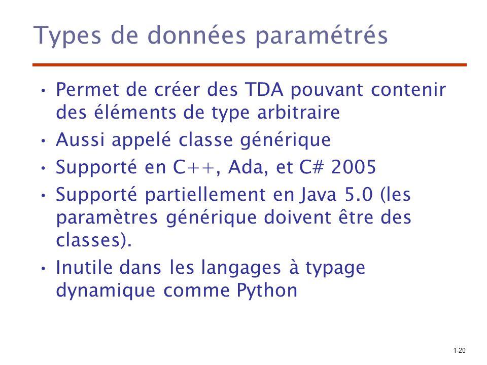 Types de données paramétrés