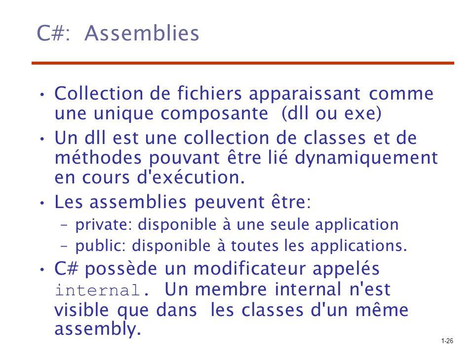 C#: Assemblies Collection de fichiers apparaissant comme une unique composante (dll ou exe)