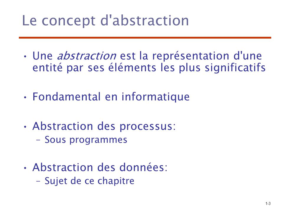Le concept d abstraction