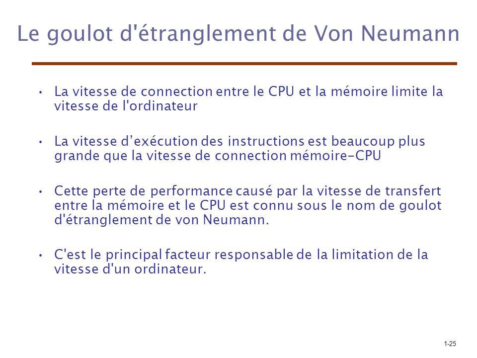 Le goulot d étranglement de Von Neumann