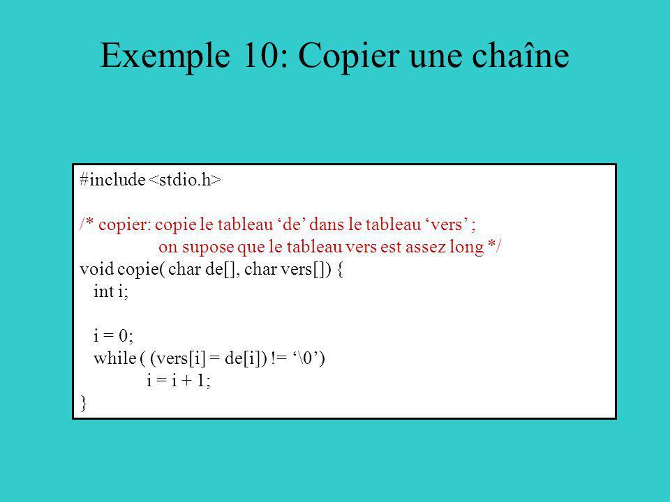 Exemple 10: Copier une chaîne