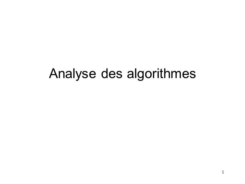 Analyse des algorithmes