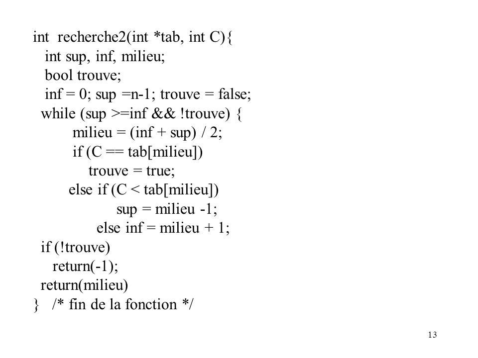 int recherche2(int *tab, int C){
