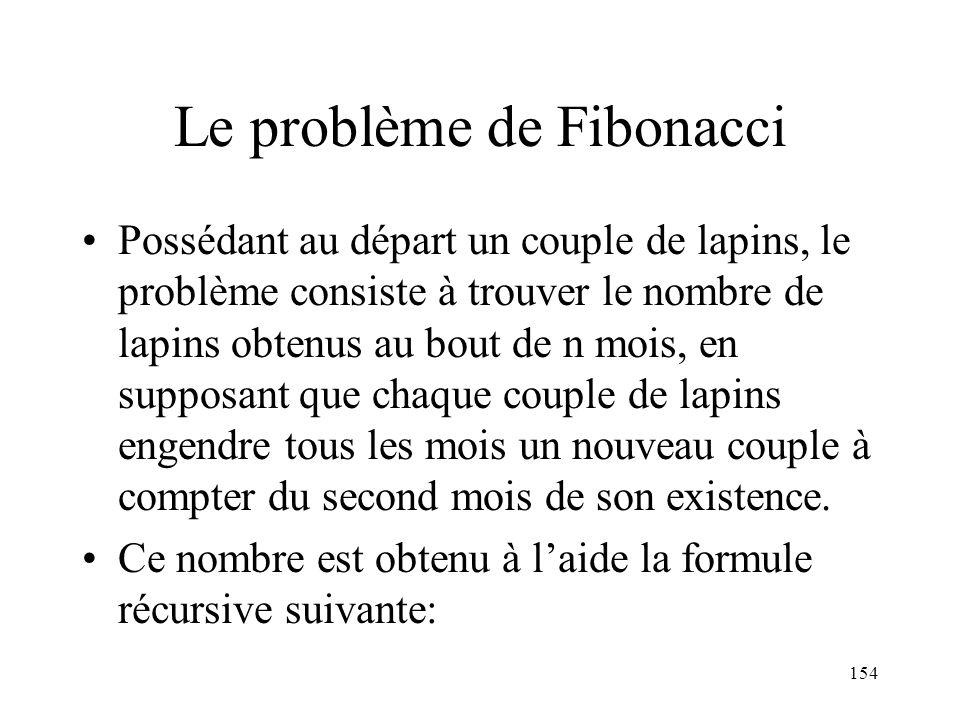 Le problème de Fibonacci