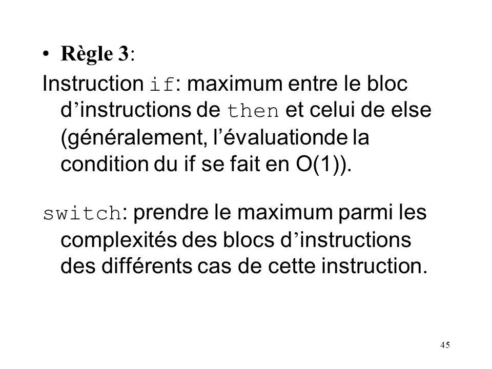 Règle 3: