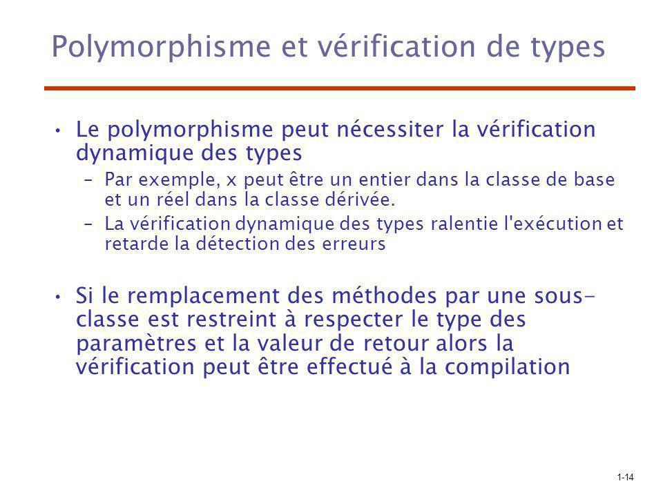 Polymorphisme et vérification de types