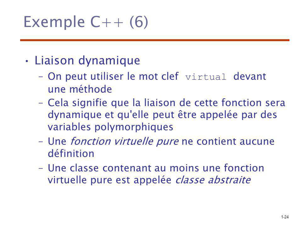 Exemple C++ (6) Liaison dynamique