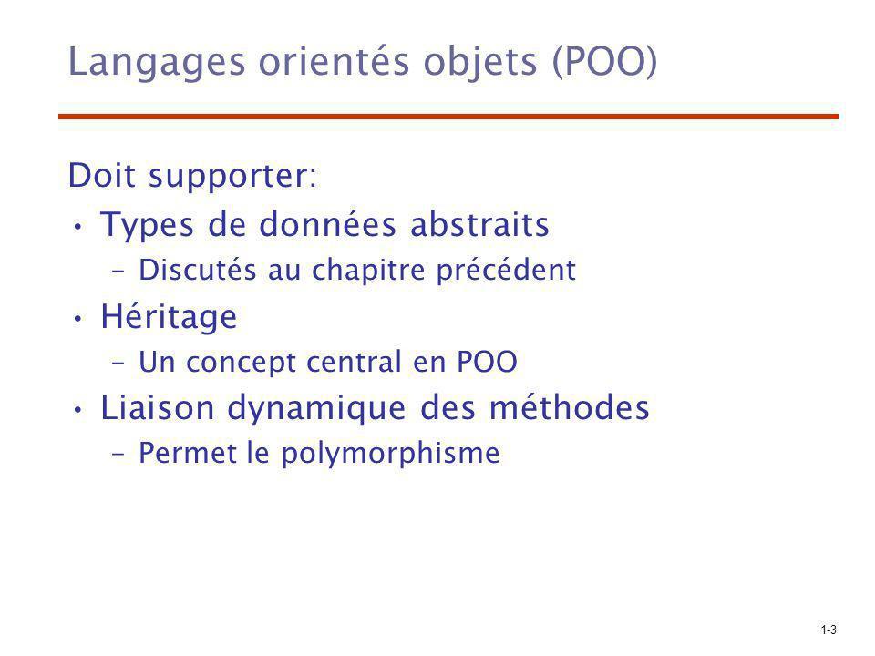 Langages orientés objets (POO)