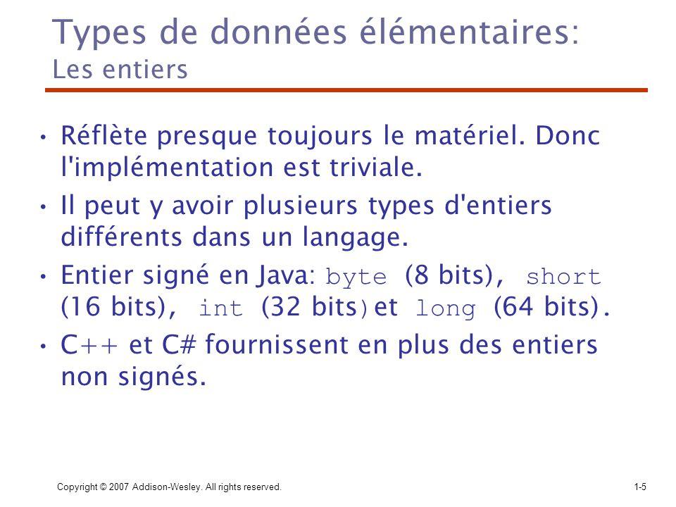 Types de données élémentaires: Les entiers