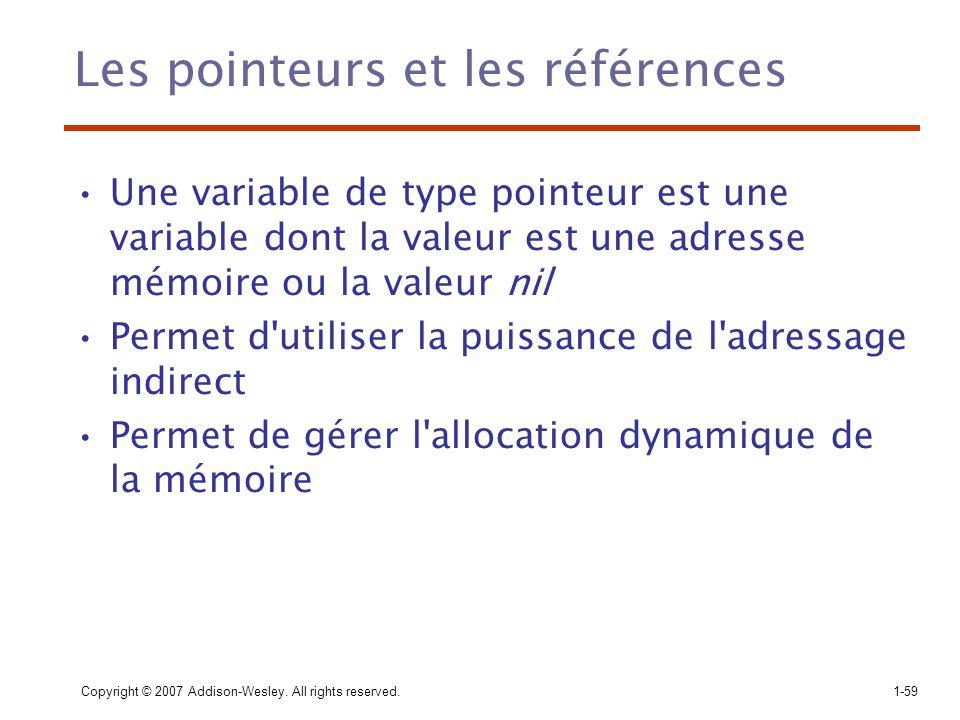 Les pointeurs et les références