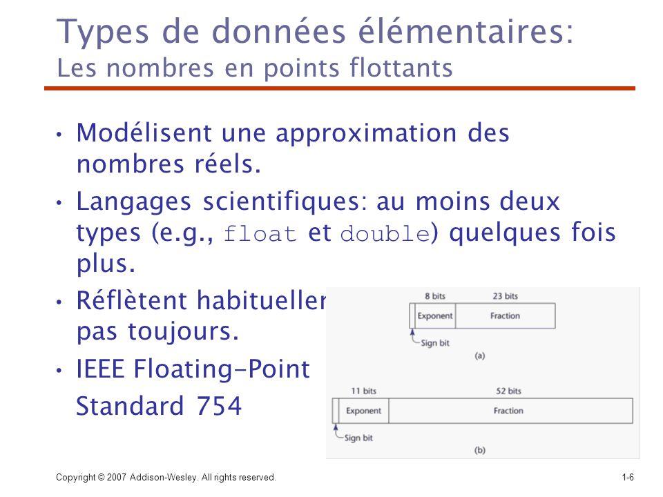 Types de données élémentaires: Les nombres en points flottants