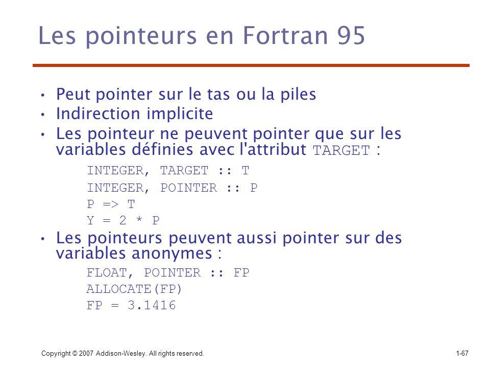 Les pointeurs en Fortran 95