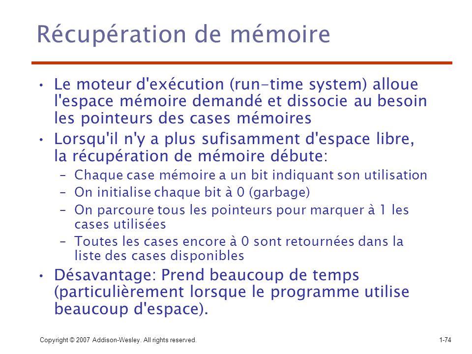 Récupération de mémoire